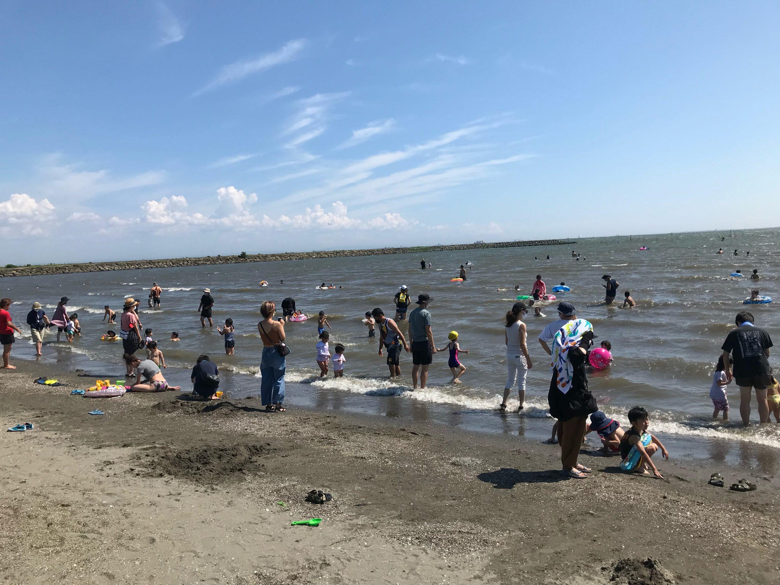 海水浴体験エリア(海風の広場)